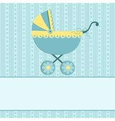 Baby greetings card vector