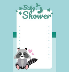 baby shower blank card vector image