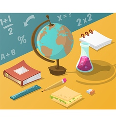 back to school collection school supplies vector image