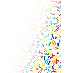 Background with numbers with copy space vector