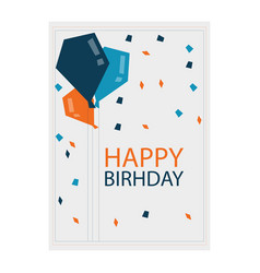 Birthday white polygon image vector