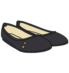 Black ballet flats vector