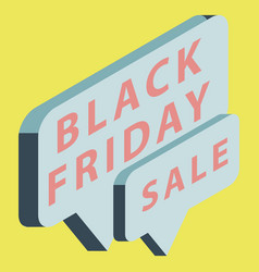 black friday sale banner isometric image vector image