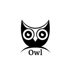 black owl logo logo of the bird vector image