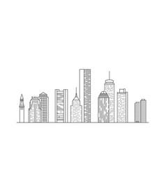 Boston city skyline usa vector