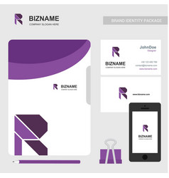 Brochure design with company cards and smart vector