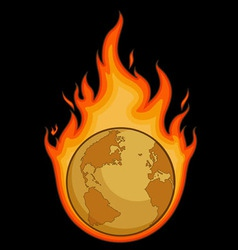 Burning Desolated Earth vector