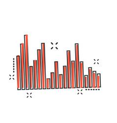 Cartoon sound waveforms icon in comic style vector