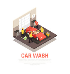 Carwash concept vector