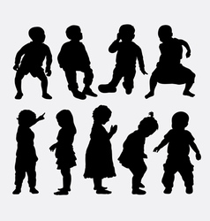 Children activity silhouettes vector