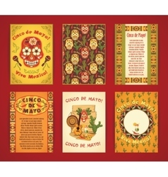 Cinco de Mayo Big set of templates with vector image