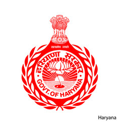 Coat arms haryana is a indian region emblem vector