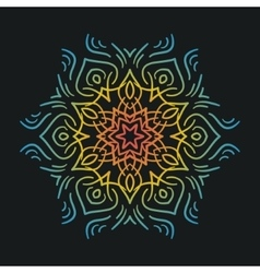 Colorful flat mandala vector image