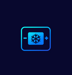 Cooling control sytem icon on dark vector