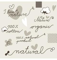 Cotton design elements vector
