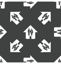 Couple in the house pattern vector image
