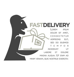 delivery service mail food express online shop vector image