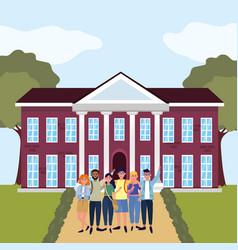Education university college cartoon vector