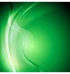 Elegant green wavy background vector image