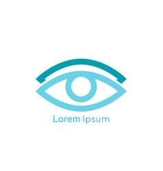 eye symbol on white background vector image