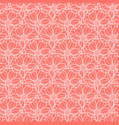 fish scale style floral pattern texture vector image