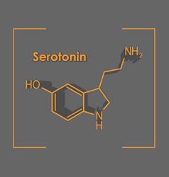 formula hormone serotonin vector image