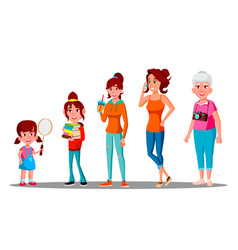 generation female - grandmother mother daughter vector image