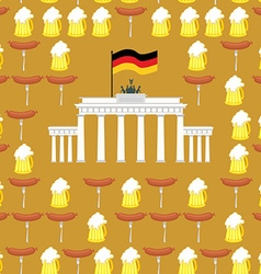 German seamless ornament Symbols of Germany beer vector image