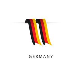 Germany ribbon flag template design vector