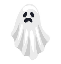ghost icon cute mysterious white spooky costume vector image