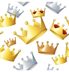Golden Crowns Background Pattern vector