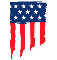 Grunge flag of united states of america vector