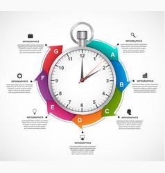 infographics design template stopwatch vector image