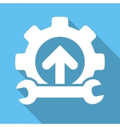 Integration Tools Flat Square Icon with Long vector