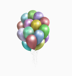 isolated sheaf of colored balloons vector image