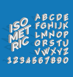 Isometric alphabet and numbers funky 3d vector