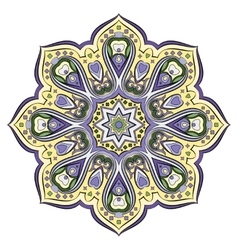 Ornate eastern mandala vector image