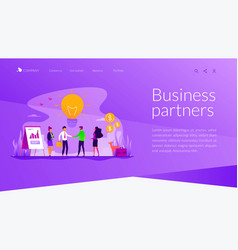 Partnership landing page template vector
