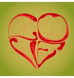 pendant heart vector image
