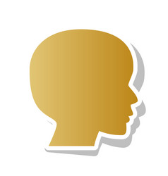 people head sign golden gradient icon vector image