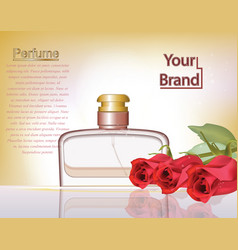 perfume cosmetics and perfume ads template silver vector image