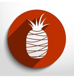 pineapple web flat icon vector image