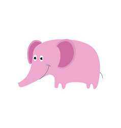 pink elephant cute animal design cartoon vector image