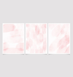 Pink watercolor wet wash splash 5x7 invitation vector