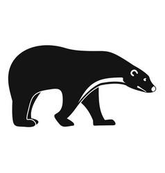 Polar bear icon simple style vector
