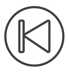 Previous button line icon web and mobile audio vector