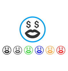 Prostitution smiley rounded icon vector