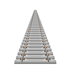 rails and reinforced concrete sleepers going into vector image