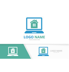real estate and notebook logo combination house vector image