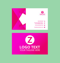 Red nice business card vector